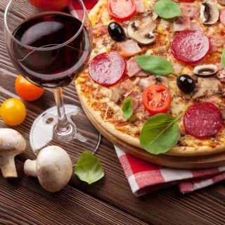 What's your choice of wine to pair your pizza with? ⠀ ⠀ Check out our menu for pizza flavours and wines that you might like. -https://buff.ly/2X9pOye [link in bio]