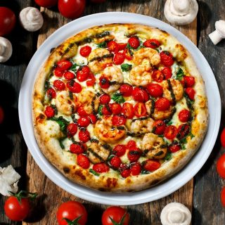 When the seafood pizza looks this good... ⠀ You order another plate and a bottle of wine to welcome the new year!⠀ ⠀ Happy New Year!