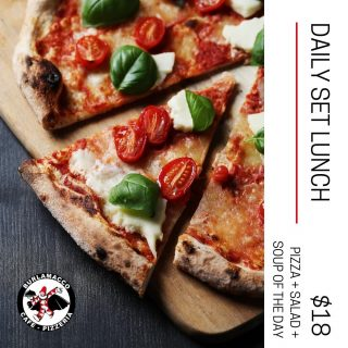 Have lunch with us for only $18++. You will never go wrong with pizza, salad and soup of the day!😉 ⠀ ⠀ #singapore #setlunch #middaytreat #pizza #pizzeria #singaporeeats #singaporefoodie