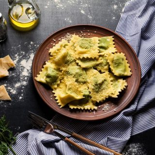 Who's up for some ravioli with ricotta, spinach and cheese? ⠀ ⠀ Come by the AA Centre at Kung Chong Road. Our cafe-pizzeria is located at the 4th floor. See yah!