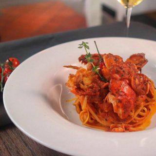Our all-time favorite and signature dish: 'Linguine' Boston Lobster Tail in Spicy 'Arrabbiata' Sauce & Fresh Basil  #burlamaccoristorante #burlamaccosg #singaporefood #singaporeelite #singaporelifestyle #singaporeeats #singapore #singaporeinsiders #yoursingapore #exploresingapore #thisissingapore #sgwine #italiancuisine #italianfood #winenight